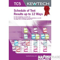 KEWTECH TC5 Test Schedule Pad A4x80Sheet