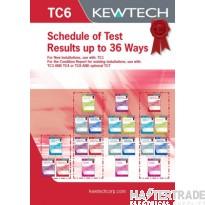 KEWTECH TC6 Test Schedule Pad A4x80Sheet