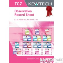KEWTECH TC7 Observation Record Pad A4x80