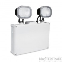 Kosnic 7W LED IP65 Non-Maintained Twin-Spot Emergency Lighting