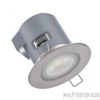 Kosnic KFDL05DIM/S30-SCH Erta 5W LED fire rated downlight 3000K Satin Chrome