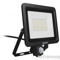 Kosnic Eco LED Flood Light 20w with PIR sensor, 4000K, Black
