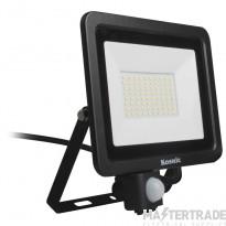 Kosnic Eco LED Flood Light 50w with PIR sensor, 6500K, Black