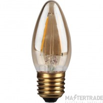 Kosnic 2w  LED Filament Candle  E27 C35 Gold finish  2700K