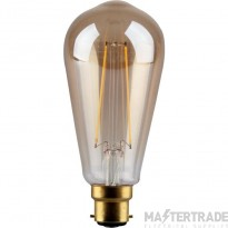 Kosnic 4w  LED Filament  GLS  B22 ST64 gold finish  2700K