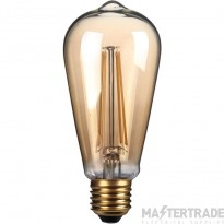 Kosnic 4w  LED Filament  E27 ST64 gold finish  2700K