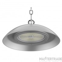 Kosnic 150W food process safe circular LED high bay silver, DALI dim, 5000K