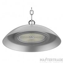 Kosnic 150W food process safe circular LED high bay silver, 0-10V dim, 5000K