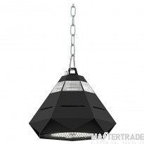 Kosnic Switchable 120/150W IP65 LED High Bay Luminaire, Black