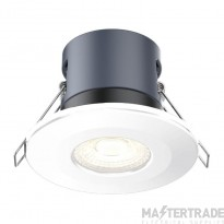 Kosnic 6W DIM LED fire rated downlight, 6500K, White