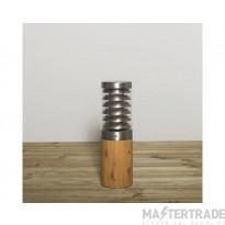 KSR KSR3167SS/W Titano 450mm E27 Bollard Stainless Steel/Wood