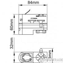 KSR KSR6414BLK Adaptor 3 Circuit Track