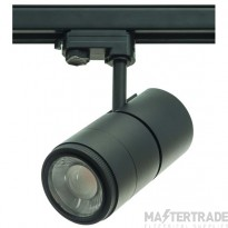 Meta 30W Led 3000K Track Fitting With Zoom Lens Black
