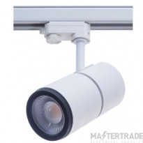 Meta 30W Led 3000K Track Fitting With Zoom Lens White