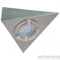 1.5W 3000K Led Triangular Cabinet Light Satin Chrome