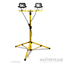 Luceco Twin Head Site Tripod LED Worklight 110V LSLTTW2181V