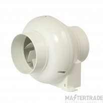 Manrose CFD200T 100mm inline centrifugal fan with bracket adjustable over run timer