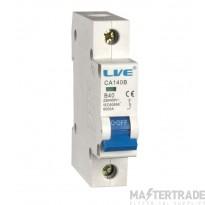 LIVE Single Pole Type B MCB 10A 6kA