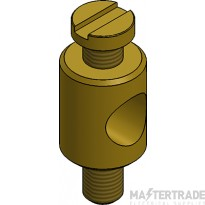 MetPro BES M4 Earth Stud - Brass