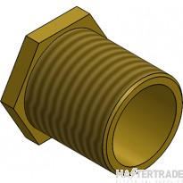 "MetPro MBBL7 2 1/2"" Male Bush Long - Brass"