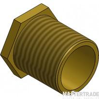 "MetPro MBBL9 3"" Male Bush Long - Brass"