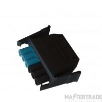 6 pole plug black / blue connectors