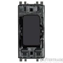 MK Masterseal Plus 2-Pole 1-Way Switch Module 20A Black 56896BLK