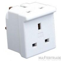 MK 696WHI Adaptor 2 Way 13A White