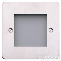 MK Edge 1-Gang 2-Module Decorative Euro Front Plate 50 x 50mm Brushed Stainless Steel K14182BSS