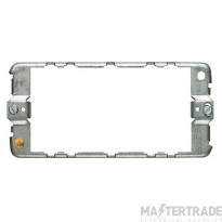 MK Grid Plus 3-Module Spare Mounting Frame Brushed Stainless Steel K14703