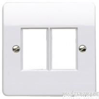 MK Metalclad Plus 1-Gang 2-Module Front Plate White K172WHI