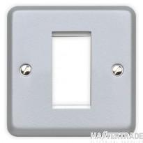 MK Metalclad Plus 1-Gang 1-Module Aluminium Euro Datacom Front Plate K181ALM