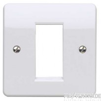 MK Logic Plus 1-Gang 1-Module Euro Front Plate 25 x 50mm White K181WHI