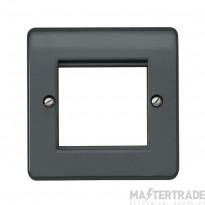 MK Logic Plus 1-Gang 2-Module Euro Front Plate 25 x 50mm Grey K182GRA