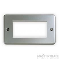 MK Metalclad Plus Euro Metal Front Plate for 2-Gang 4-Module 100 x 50mm Aluminium K184ALM