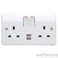 MK K2743WHI Socket 2G Swd DP USB 13A