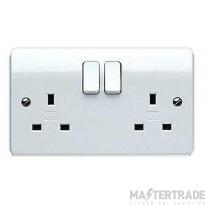 "MK Logic Plusâ""¢ 2-Gang 2-Pole Surface Mount Socket Switch 13A 146 x 86 x 25mm White K2747WHI"