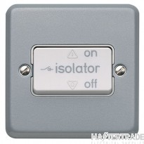 MK Metalclad Plus 1-Gang 3-Pole Fan Isolator Decorative Switch with Switchlock/Padlock 10A K2857ALM