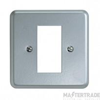 MK Metalclad Plus 1-Gang 1-Module Steel Frontplate K291ALM