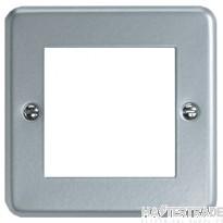 MK Metalclad Plus 1-Gang 2-Module Steel Frontplate K292ALM