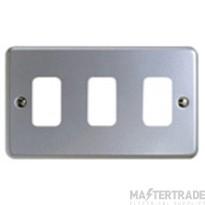"MK Metaclad Plusâ""¢ 3-Gang Aluminium Blank Plate 146 x 86mm White K3493ALM"