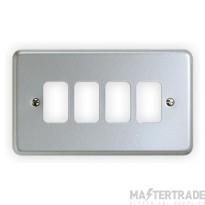"MK Metaclad Plusâ""¢ 4-Gang Aluminium Blank Plate 146 x 86mm White K3494ALM"