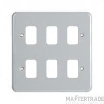 "MK Metalclad Plusâ""¢ 6-Module Aluminium Front Plate K3496ALM"