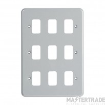 "MK Metalclad Plusâ""¢ 9-Module Aluminium Front Plate K3499ALM"