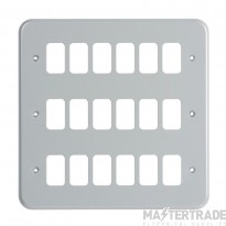 "MK Metalclad Plusâ""¢ 18-Module Aluminium Front Plate K3508ALM"