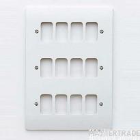 MK Logic Plus Triple 2-Gang 12-Module Frontplate White K3639WHI