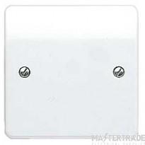 MK Logic Plus 1-Gang Blank Plate 86 x 86mm White K3827WHI
