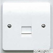 MK Logic Plus 1-Gang BT Master Telephone Socket IP2XD White K422WHI