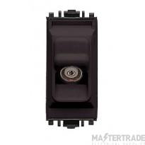 MK K4521BLK Socket TV/FM Isolated