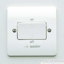 MK K4859WHI Fan Isolator 3P 10A